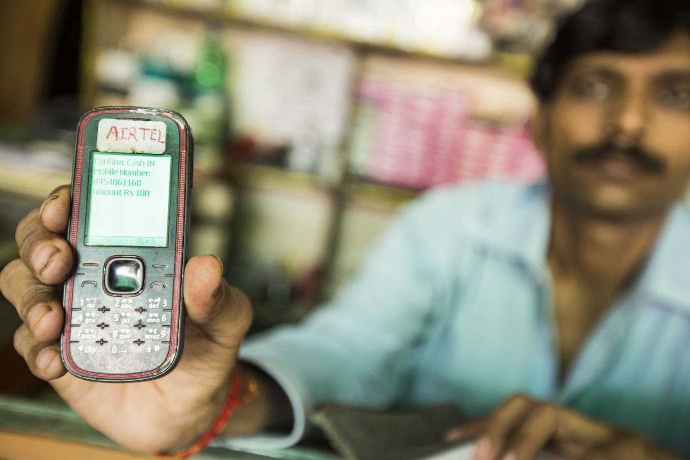 Many mobile credit users still use feature phones.