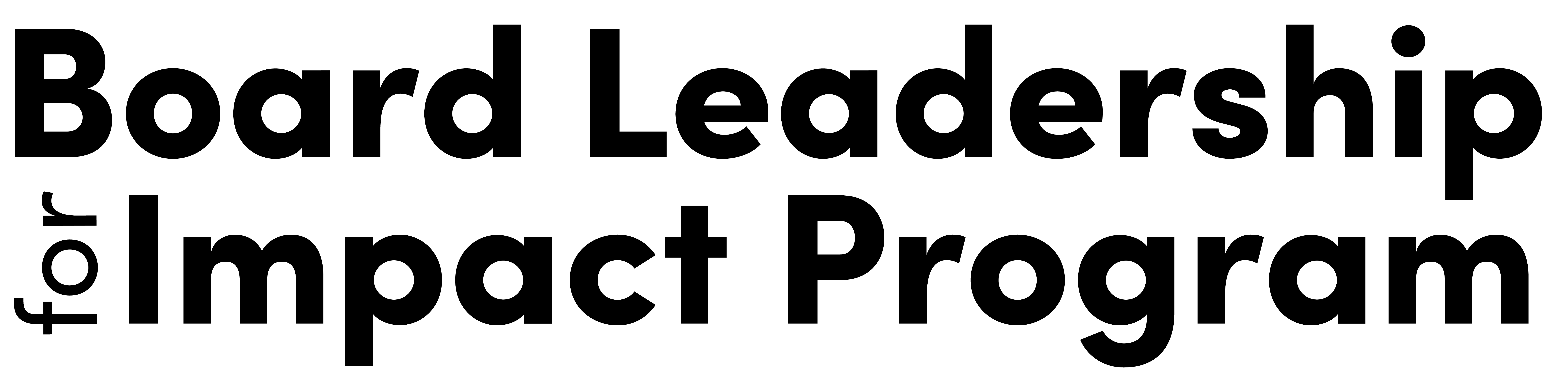 Board Leadership for Impact Program Logo